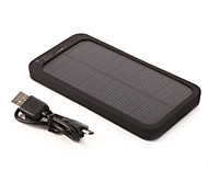 Braudel 2015 5000mah Portable Solar USB Charger for iPhone6/6 Plus/Samsung Note4/Sony/HTC and other Mobile Devices
