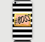 Boss Pattern Back Case for iPhone 6