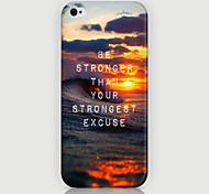 patrón de la caja trasera paisaje marino puesta del sol para iPhone5 / 5s