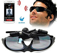 Old Shark Wireless Bluetooth Sunglasses Hands Free Call Stereo Music Function Headset for Smart Phone and Tablet Black