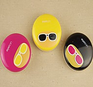 Fashion Hairstyle Multi Color Plastic Cantact Lens Case (Random Color)