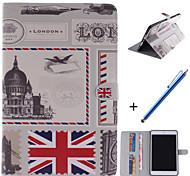 britische Art-Design-PU-Leder Ganzkörper-Fall mit Ständer und Kapazitätsfeder für ipad mini 1/2/3