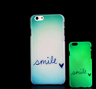 Phrase Pattern Glow in the Dark Case for iPhone 6 Cover