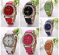 nuovi uomini di lusso delle donne unisex grande quadrante orologi strass delle donne del grano del leopardo classico moda orologio