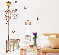 Wall Stickers Wall Decals, Modern Street Lamp PVC Wall Stickers
