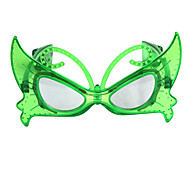 Cute Butterfly Pattern LED Flashing Glasses - Transparent Green (3 x AG13)