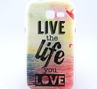 el amor de la funda blanda mar modelo para la tendencia Galaxy Lite s7390 / s7392