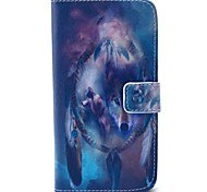 EFORCASE Wolf Campanula Painted PU Phone Case for Galaxy S6 edge S6 S5 S4 S3 S5 mini S4 mini S3 mini
