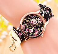 женская мода национальной Stype Кварцевые аналоговые ткань ленты часы (разных цветов)