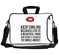 "Elonbo Keep Smile Carrying Handle & Removable Shoulder Strap Laptop Bag for 13"" Macboob pro HP"