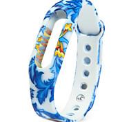 Ersatz tpu blaues Blumenmuster xiaomi miband Armband Armband für xiaomi Smart Uhr