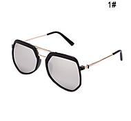 100% UV400 Wayfarer Fashion Full-Rim Mirrored Polygon Sunglasses