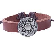 2015 Fashion Personality Bracelet Genuine Leather Alloy Jewelry