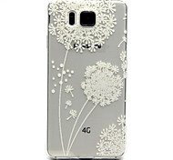 Dandelion Pattern Transparent Painted Relief TPU Material Phone Shell for Samsung Galaxy Alpha G850