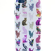 Colorful Cat Pattern TPU Soft Case for iPhone 5C