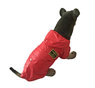 Dog Rain Coat - XXL / XXXL / 4XL / 5XL - Spring/Fall - Red / Blue - Waterproof - Cotton