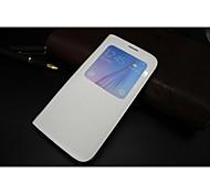 coldre de telefone inteligente capa protetora pu dormente por samsung galaxy S6 borda (branco)