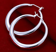 Fashion Circular 925 Silver Earrings