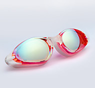 Winmax® Women Swimming Goggles Electroplating PC Lens & Silicone Frame Blue/Pink 100% Anti UV And Anti Fog