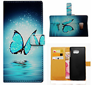 A Beautiful Butterfly Pattern PU Leather Case Cover with Stand and Card Holder for Samsung Galaxy S6