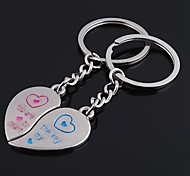Unisex Alloy Keychain Peach Hearts Valentine's Day Key Chains 1 Pair