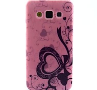 love pink-Muster-TPU Papiereinband für Samsung-Galaxie a3