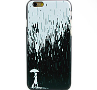 Girl with A Umbrella in Rain Pattern Hard Case for iPhone 6