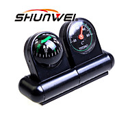 SHUNWEI® Car 2-in-1 Multi-Function Spherical Compass Thermometer Union
