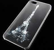 Eiffel Tower Pattern Transparent Back Case for iPhone5/5s