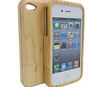 Real Natural Bamboo Wood Wooden Hard Case Cover For Apple Iphone 4G (Assorted Color)
