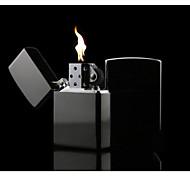 lujoso negro cromo brillo plateado de queroseno más ligero