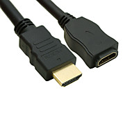 Gold-Plated HDMI V1.3 Male to Female Cable