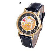 Men's Fashion Quartz Watch Genuine Leather Strap
