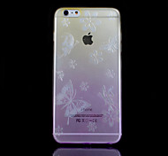 Butterfly Pattern Gradient Thin Transparent TPU Material Mobile Shell for iPhone 6 (Assorted Colors)