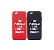 Silicone Material Couples with English Letters Style for iPhone 6 (Assorted Colors)