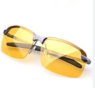 Night Vision  Men's Polarized Rectangle Driving Glasses