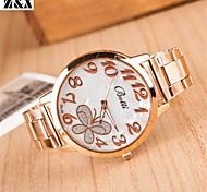 Women's Fashion Diamond Lovely Butterfly Dial Quartz Analog Steel Belt Bracelet Watch