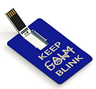 16GB Keep Calm and Don't Blink Design Card USB Flash Drive