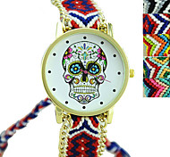 Fashion Exquisite Hand-weave Ethnic Style Skull Watches