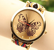 Fashion Women's Butterfly National Weaving South Korea Style Chain DIY Watch