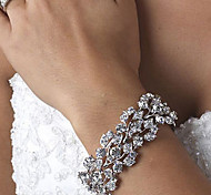 Vintage Luxurious Diamond Wedding Silver Bracelet For Women Lades Bridal Birthday GIft