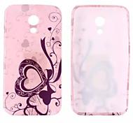 Bowknot Love Glitter Pattern TPU Soft Case for Motorola G2