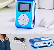 8G Mp3 Mini Lettore Clip USB LCD Screen Rechargeable FM Radio Player