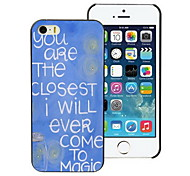 You Are The Closest Design PC Hard Case for iPhone I4