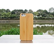 New Luxury Handmade Hard Modish Enduring Pure Wood Natural Wooden Bamboo Style Case Cover for Iphone 6 Plus