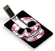 64GB de la tarjeta de diseño unidad flash usb cráneo