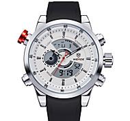 relógios da moda dos homens relógio de quartzo impermeável multifunções led (cores sortidas)