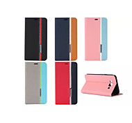 Ultra Thin Hit Color No Buckle PU Case with Stand for Samsung Galaxy A7(Assorted Colors)