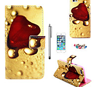 KARZEA™Heart Jelly Pattern PU Leather Case with Screen Protector and Stylus and Dust Plug for iPhone 6