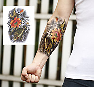 Mascot Lotus Carp Buddhism Tattoo Stickers Temporary Tattoos(1 pc)